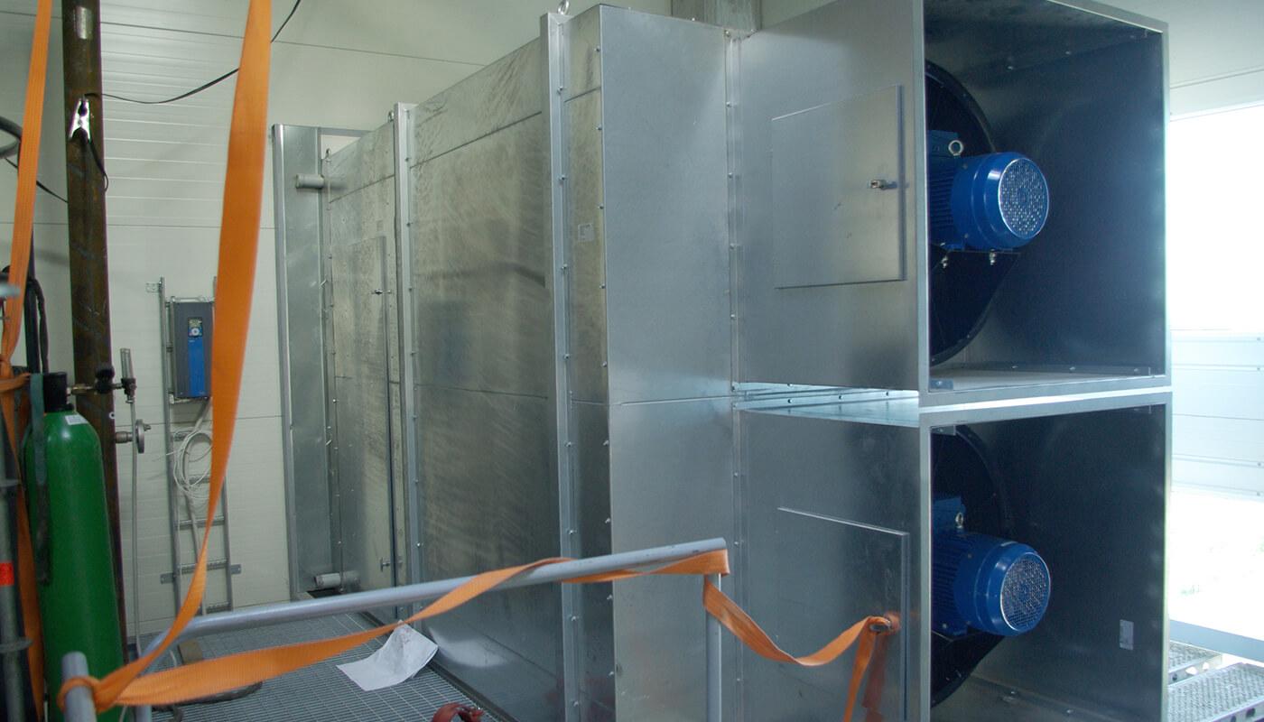 ventilatiesets voor technische ruimte