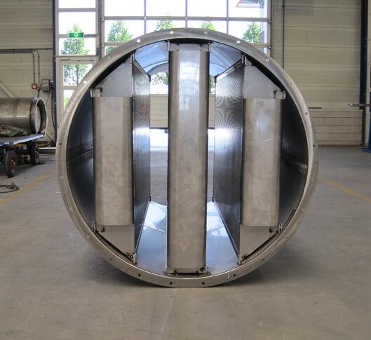 cilindrische geluiddemper