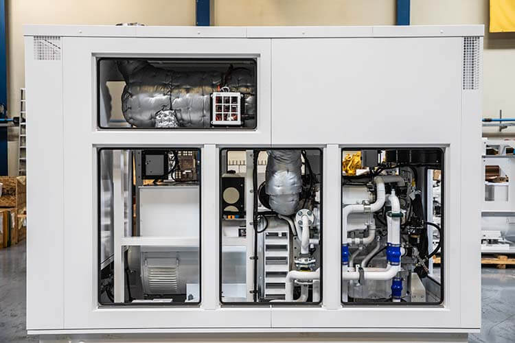 Acoustic enclosure for Pon Power Marine C9.3