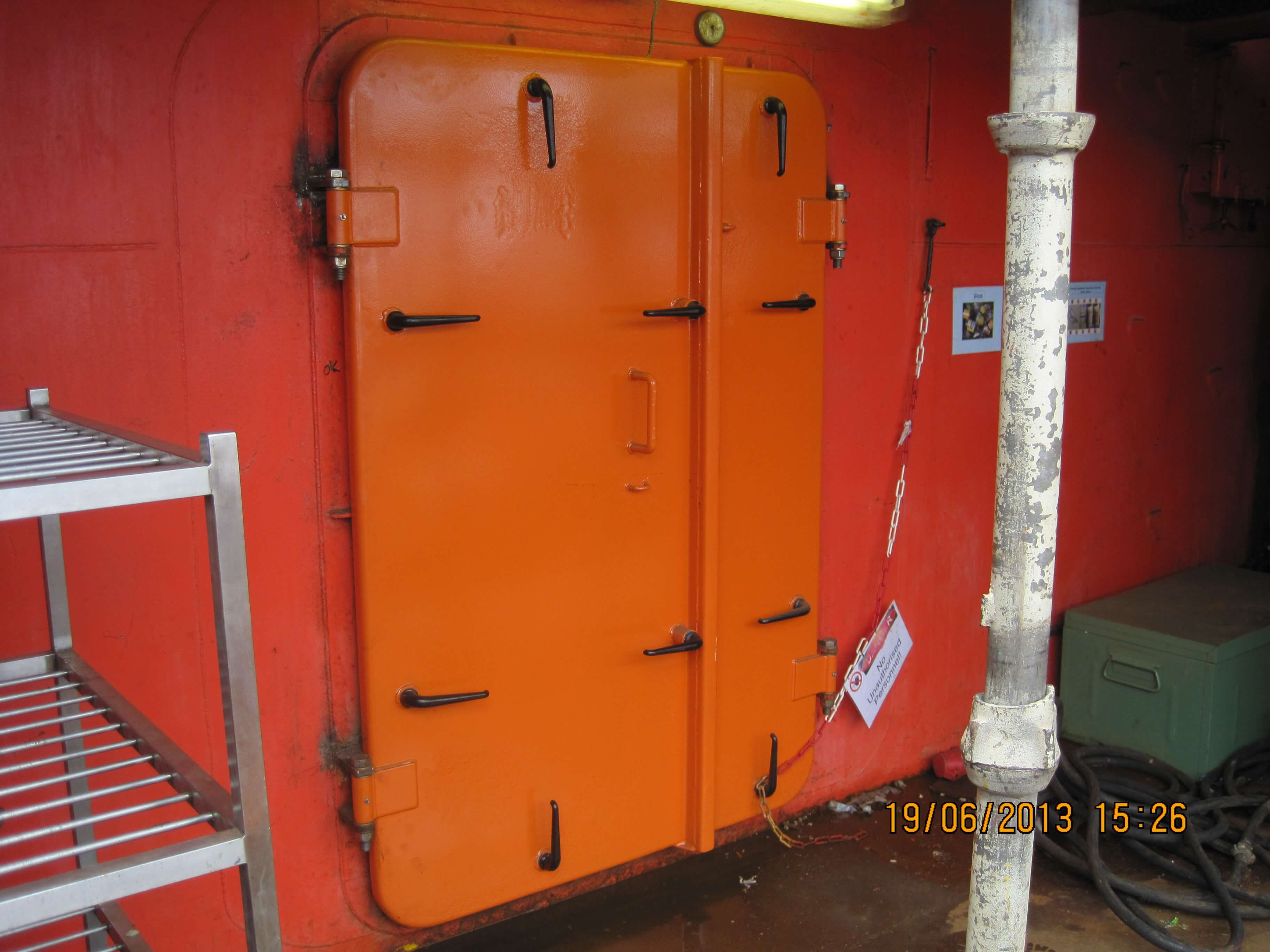 Renovation offshore doors Stena Spey - after