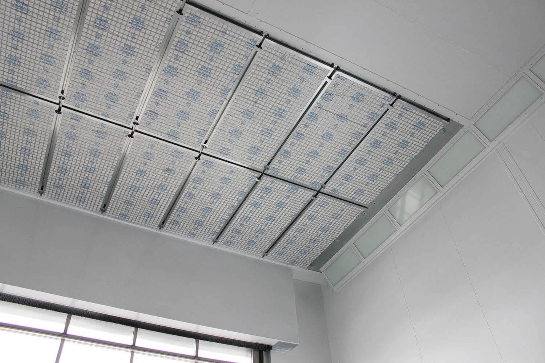Spuitcabine natlak filterplafond